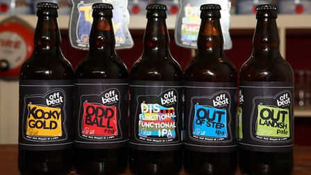 A selection from Offbeat Brewery