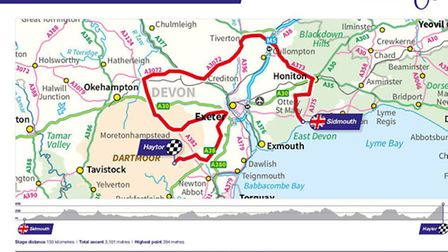 The Tour of Britain Devon stage from Sidmouth to Haytor