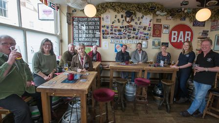 The Just Reproach micropub customers enjoy their drinks