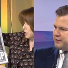 Robert Jenrick is questioned by Kay Burley over the government's response to the floods. Photograph: