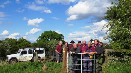 CMS volunteers at a newly installed 'kissing gate' in Walkern