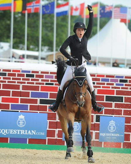 Bolesworth International Showjumping Puissance Victoria Gulliksen on Grafit