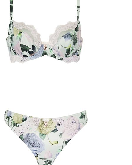 B by Ted Baker floral bra 25 and hipster briefs 12.50, Debenhams