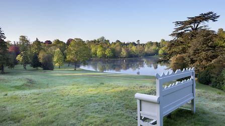 Bench overlooking the lake at Claremont Landscape Garden (Photo National Trust Images - Andrew Butle