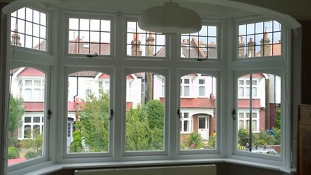Interior view of some of Premier Windows work