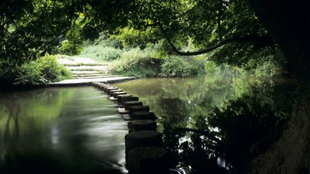 A view of the Box HillStepping Stones
