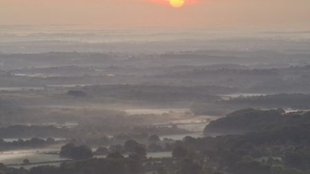 View south from the Temple of the Winds at sunrise (Photo: National Trust Images/John Miller)