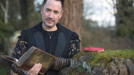 Rob Forknall reads from his great-great grandmother's Complete Words of Shakespeare