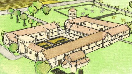 Colour sketch of the site