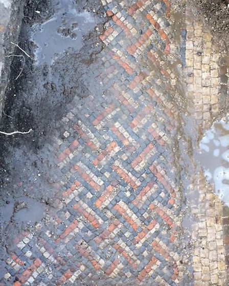 Mosaic discovered on the Whiltshire site