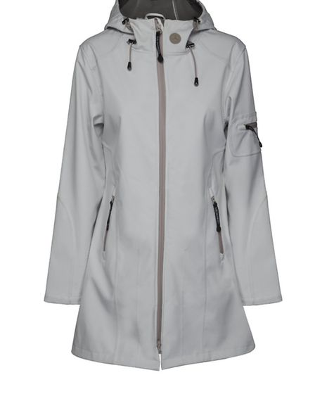 Three-quarter length softshell coat allows you to move freely in the rain with no sweat, £145, from