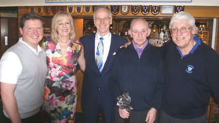 Nick with David Brunton, Yvonne, Brian Gould and Tony Bacchus