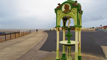 The drinking fountain erected on Hoylake's promenade to mark Queen Victoria's Diamond Jubilee in 189