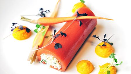 Dorset crab with texture of carrots