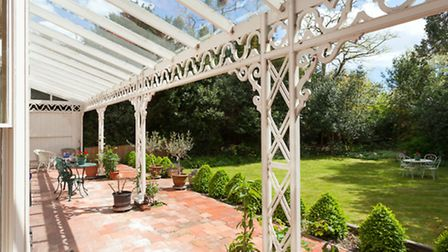 The ornate verandah is a lovely place to sit and relax