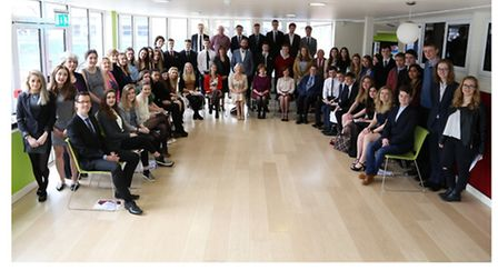 The award winners at the Cirencester College Awards Ceremony. Photograph credit to the Wilts and Glo