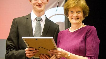 Will Duggleby with Dame Fiona Reynolds
