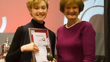 Beccy is awarded the Amanda Stokes Trophy for Commitment to and Feeling for the Visual World