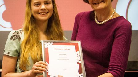 For her achievements in college, Emma was awarded the Science Faculty Prize