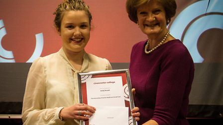 Emily is awarded her Humanities Prize for Health and Social Care