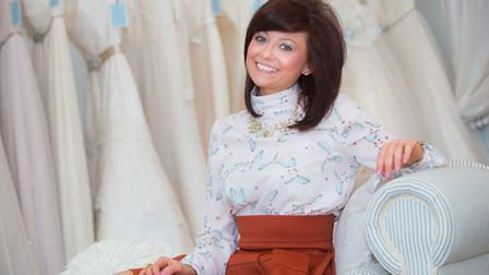 Hannah Mayhew has owned Hannah Elizabeth Bridal for the past two years