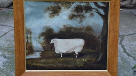 Prize of Cotswold in a landscape, by J Miles of Northleach