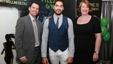 Village Gym Ambassador Louis Smith with Cheadle Village Hotels and Gyms Meetings and Events Manager,