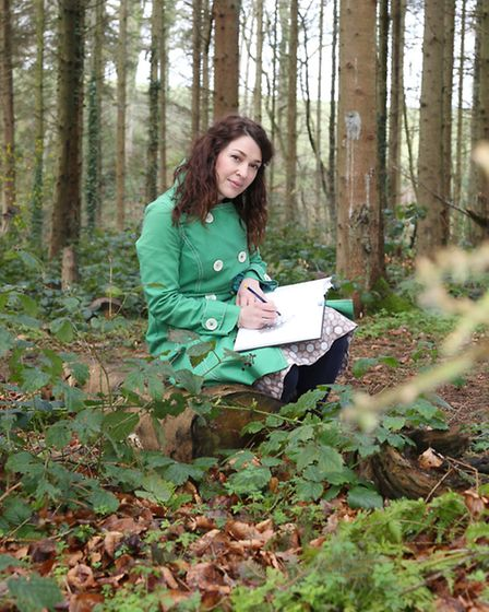 Verity Pulford taking inspiration from the countryside
