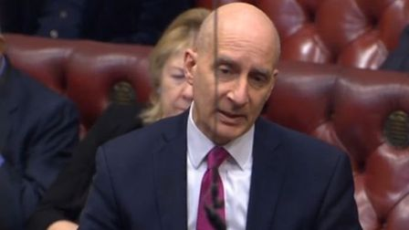 Andrew Adonis in the House of Lords. Photograph: Parliament TV.