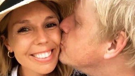 Carrie Symonds and Boris Johnson pose for a picture for Instagram