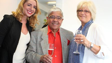 Stylist Hannah Skinner, with both hers and Michael's clients Claude Goodman and Kathy Goodman for al