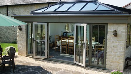 An orangery lets light into this beautiful Cotswold home
