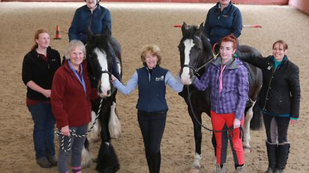 RDA regional chairman, Sheila Saner (centre) with helpers, (L-R); Vicky Evans, Pauline Wooding, Reb