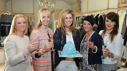 Abi Fisher (centre) and her team (from the left); Nicole Millington, Sally Prothero, Sarah Edis-Bat
