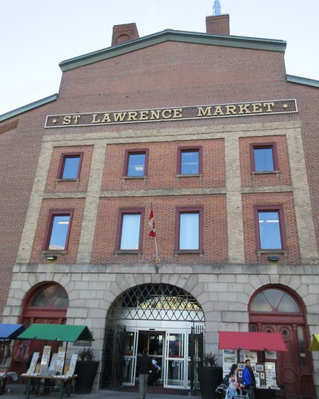The 200-year-old St Lawrence Market, rated by National Geographic as the best food market in the wor
