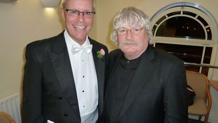 Brian Kay with with the well-known composer Karl Jenkins (Photo Simon Ames)