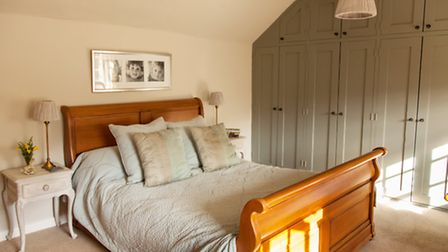 In the master bedroom Emma's sleigh bed is a favourite piece of furniture (Julie Kaye Photography)