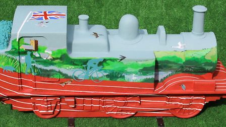 Sculpture designed by athlete Jo Pavey featuring the Grand Western Canal where she trains