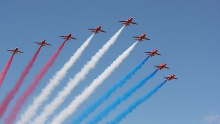The Red Arrows will entertain the crowds