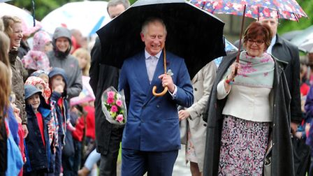 HRH The Prince of Wales, Patron, Music in Country Churches, at a concert at Malmesbury Abbey, Malmes