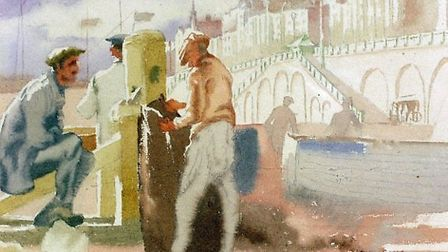 Brighton Beach by Therese Lessore (1884-1945)