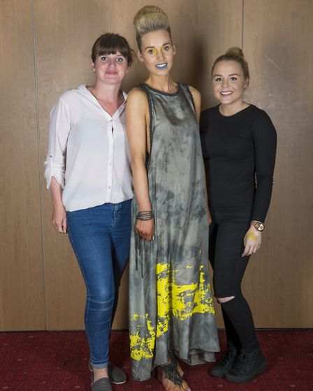 Winners of Best Hair, Best Make-up and Best Clothing: Nancy West and Angelina Masters with their mod