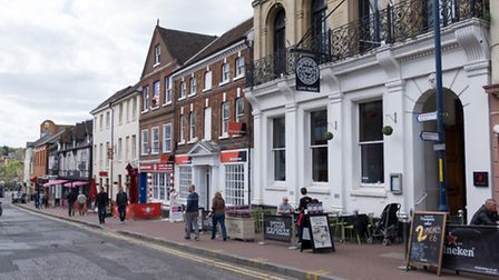 Earl Street has the largest concentration of eating places in Maidstone