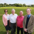 Committee members, Hilary Hilton, Laurie Oatway, Paul Chilton and Franf McCarthy at Wilmslow High Sc