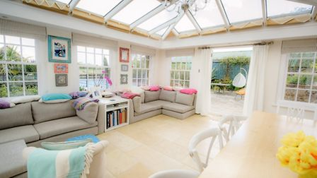 The orangery - what Niki Perry describes as the heart of her home. Picture by Jim Holden