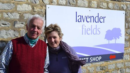 Tim and Anne Butler at Lavender Fields at Hartley Park Farm