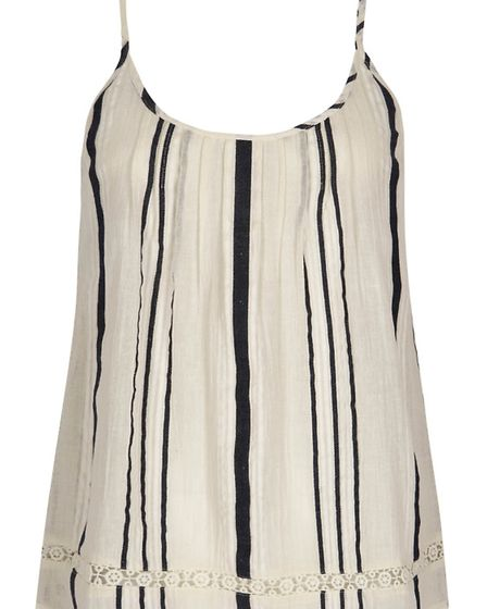 This simple stripe cami would look good with shorts or a skirt, £32, Next stores throughout Kent, ww
