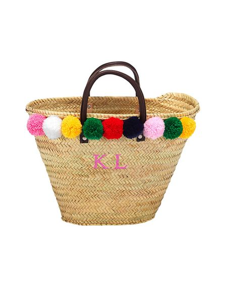 How could Kent Life resist this monogrammed 'KL' pom-pom beach basket from Rae Feather, www.raefeath