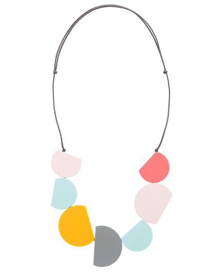 Add a summery pop of colour to your outfit: semi-circular collar necklace £29, Oliver Bonas stores t