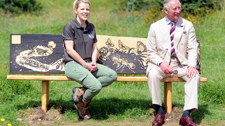 HRH The Prince of Wales with Ellie Harrison, BBC Countryfile presenter and president of the Gloucest